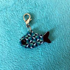 Peixe Geométrico azul