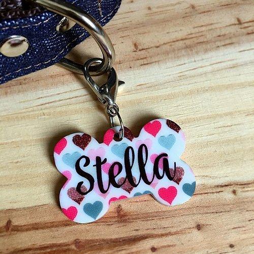 Plaquinha- Tag de identificação-Corações