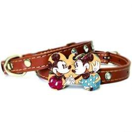Plaquinha- Tag de identificação- Mickey e Minnie