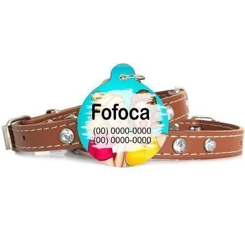 Plaquinha-Tag de identificacão de cães- Fofoca