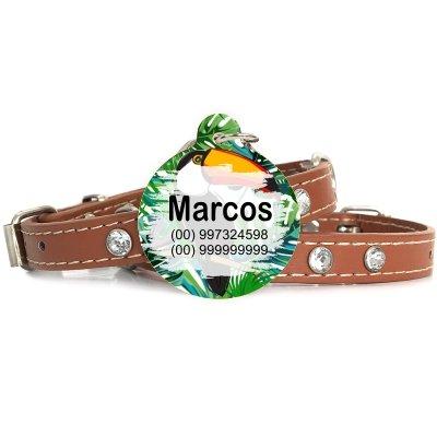 Plaquinha-Tag de identificacão de cães- Tucano
