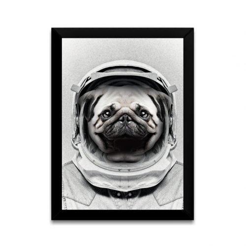Quadro Pug Astronauta